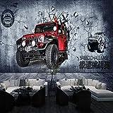 BNUIBOIUZ Papier Peint Mural 3D Type De Papier Peint De Voiture De Moto Vintage pour Le Salon Bar Fond D'Écran De Toile De Fond @ 280 * 200 Cm