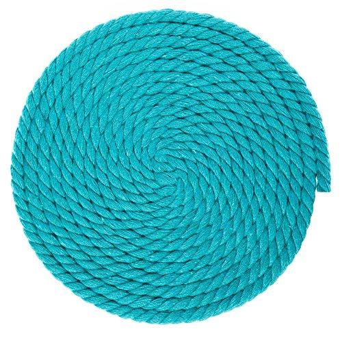 1/4-inch-thick gedrehtes Seil Baumwolle Macrame Craft-Große Auswahl an der Farbe und Muster Optionen-Längen von 10, 25, 50, und 100Fuß 100 Feet blaugrün -