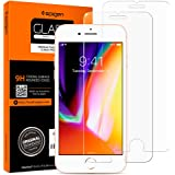 "Spigen, 2 Pack, iPhone 8 (4.7"") / iPhone 7 Screen Protector, Glas.tR SLIM, 9H Hardness, Case-Friendly, Anti-Fingerprint, Anti"