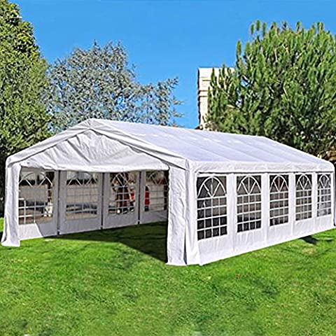 Quictent 5X10M (16.4X33FT) with GROUND BAR white Marquee Heavy Duty