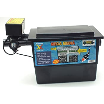 Kockney Koi Yamitsu Mega Black Box Pond Filter with 11w UV Fish Koi Pump Fed