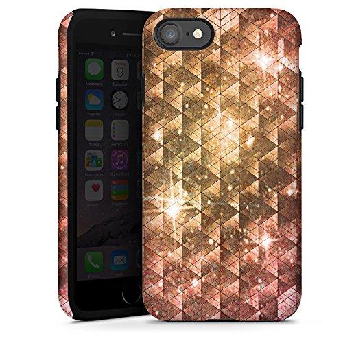 Apple iPhone X Silikon Hülle Case Schutzhülle Galaxie Universum Muster Tough Case glänzend