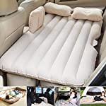 UORNI Inflatable Car Bed Mattress with Two Air Pillows, Car Air Pump and Repair Kit (Multi Color)