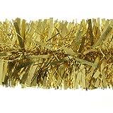 WeRChristmas - Espumillón con decoración en relieve (2 m), color dorado