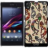 DesignedByIndependentArtists Hülle für Sony Xperia Z1 (l39h) - Kokopelli Stammes- Muster by BluedarkArt