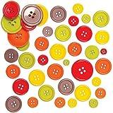 Bottoni Colorati motivo Autunno per Bambini, per Creazioni Fai Da Te Collage e Bigliettini (confezione)
