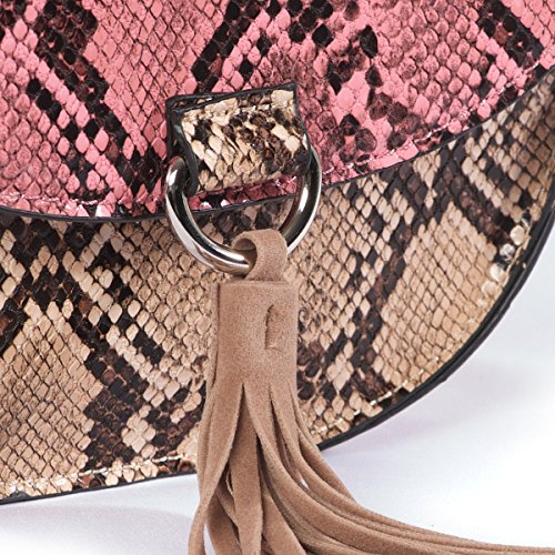 Barato Y Agradable Mademoiselle R Donna Borsa Effetto Rettile Serpente Aclaramiento De 2018 CWaJwOV8y