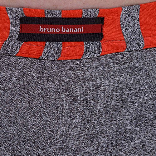 bruno banani Herren Shorts Retro Way Out Grau (Grau//Grau/Rot Stripes 2378)