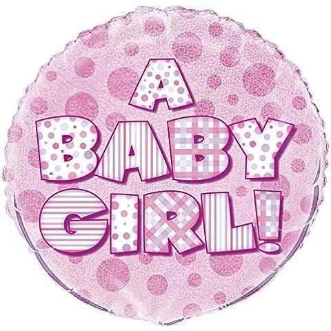 Un globo en forma de niña bebé con helio Füllung Partido señor de nacimiento o rosa