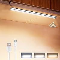 Lampe de Placard 160 LED,Détecteur de Mouvement Lumiere Led Placard Sans Fil 1800mAh 3 Modes USB Rechargeable,Bande…