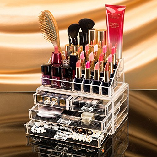 Cosmetic Organizer Makeup Storage Box Lipstick Holder Stand
