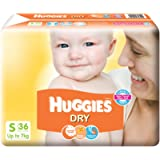 Huggies New Dry Small Size Diapers (36 Count)