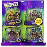 Tortugas Ninja - Pack de 4 figuras, 14 cm (Giochi Preziosi 90610)