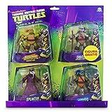 Tortugas Ninja Pack de 4 figuras, 14 cm (Giochi Preziosi 90610),...
