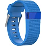 SHOBDW Fitbit Charge HR Armband, Ersatz Silikonband Gummiband Wristband Armband für Fitbit Charge HR