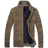¡Gran promoción!Abrigos para Hombre Rovinci Invierno cálido Atractivo Manga Larga más Terciopelo de Punto Chaqueta de Punto Suéter