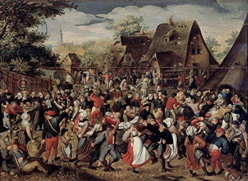 "Leinwand-Bild 80 x 60 cm: ""The Village Festival (oil on panel)"", Bild auf Leinwand"