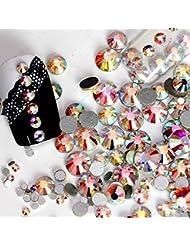 Nail Art Lot de 1440 décorations pour ongles à strass Brique de collage