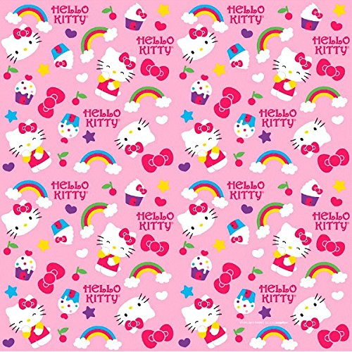 (Amscan Liebenswürdig, Hello Kitty Rainbow® Geschenkpapier Geburtstag Party (1Stück), Rosa, 8'x 76,2cm)
