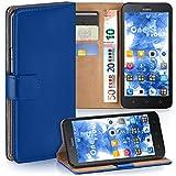 moex Huawei Y625 | Hülle Blau mit Karten-Fach 360° Book Klapp-Hülle Handytasche Kunst-Leder Handyhülle für Huawei Y625 Case Flip Cover Schutzhülle Tasche
