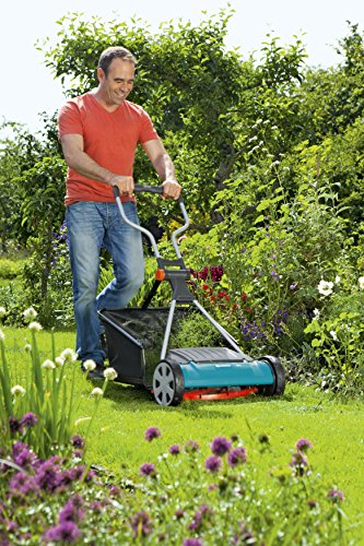 Gardena Comfort Cylinder Mower 400 C: Manual Mower with a 40-cm Working Width for Lawn Areas of up to 250 m sq, Blade Cylinder of High-Quality Steel, Touchless Cutting Technology (4022-20)