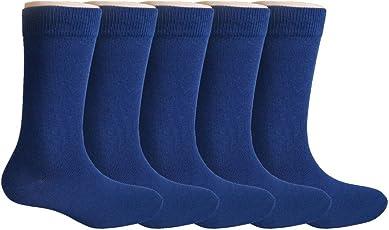 Footmate Socks Kid's Navy Uniform Socks ; Age: 11-14 yr (5 Pair Pack)