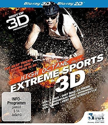 Best of 3D - High Octane: Vol. 1 - Vol. 3: Extreme Biking 3D [3D Blu-ray] (BMX - Mountain Bike) (Beste 3d Blue Ray Filme)