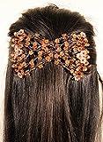 Mebella, fermacapelli da donna magico elastico, doppio pettine EZ, per diversi stili di capelli