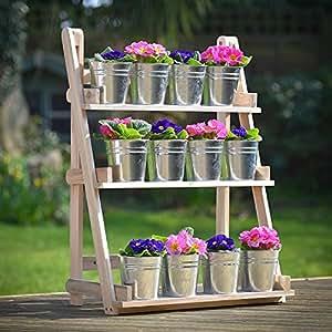 Plant Theatre - Kräuter- und Pflanzengestell aus hartem Naturholz. Ideales Geschenk für Gartenliebhaber.