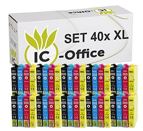 40 Tintenpatronen Set kompatibel für Epson 29XL 29 XL Drucker XP-235 XP-245 XP-247 XP-255 XP-330 Series XP-332 XP-335 XP-342 XP-345 XP-352 XP-430 Series XP-432 XP-435 XP-442 XP-445 XP-452 XP-455