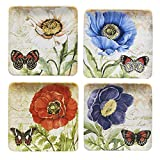 "Certified International Poppy Garden Salad Plate 8.5"", Set of 4"