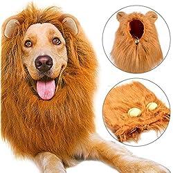 Peluca de León Para Perro, Etpark León melena pelo peluca con orejas Gato Cachorro Mascotas Ropa Sombrero Dress Disfraces Costume Para Navidad Fiesta