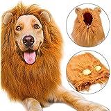 Peluca de León Para Perro, Etpark León melena pelo peluca con orejas Gato Cachorro Mascotas