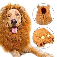 Idea Regalo - Bliplus Cane Pet Costume, Grande Medio Cane Regolabile Parrucca leone con Orecchie per Halloween Natale Partito Vestire