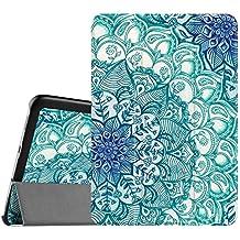 Fintie Samsung Galaxy Tab S2 8.0 Funda - Slim Fit Smart Funda Carcasa con Stand Función y Imán Incorporado para el Sueño/Estela para Samsung Galaxy Tab S2 8.0 pulgadas (Emerald Illusions)