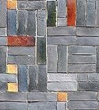 Papel de contacto con piedra de ladrillo sintético, autoadhesivo, vinilo para cocina, papel de pared, pegatina para pegar y pegar papel pintado, decoración del hogar, 45 x 500 cm