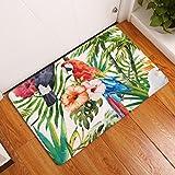 Nuohuilekeji Fußmatte Bad Rutschfest Badezimmer Fußmatte Teppich Vögel Muster Home Decor, Polyester, 6#, M