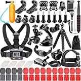 Neewer 83-in-1 Kit di Accessori per GoPro Hero 6 5 4 3 + 3 2 1 Hero Session 5 Black AKASO EK7000 Apeman SJ4000 5000 6000 DBPOWER AKASO VicTsing WiMiUS Rollei QUMOX Lightdow Campark e Sony Sports DV ecc.