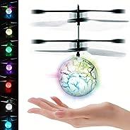 UTTORA Pelota voladora Flying Ball Crystal Intermitente LED RC Juguete de inducción infrarroja Helicóptero Aviones de radioco