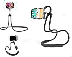 Flexible Adjustable Cell Phone Holder, Lazy Hanging on Neck Mobile Phone Stand, Flexible DIY Hand Free 360° Rotation Mounts for Mobile 3.5-6.3 inch | Lazy Phone Holder | Lazy Mobile Mount | Portable Lazy Cell Phone Holder |