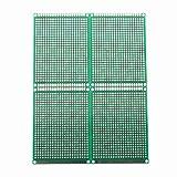 SODIAL(R) 4pcs Doble-Lado Prototipo FR-4 PCB Stripboard universal Placa de circuito impreso 6 * 8cm Tamano