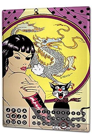 Perpetual Calendar Sexy Fun FeliX China Dragon Cat