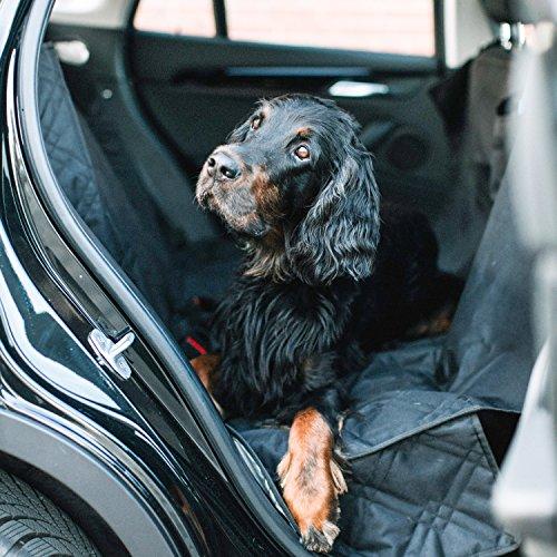 Hundedecke für dein Auto | Inkl. Reisetrinkflasche & Sicherheitsgurt | Rutschfest & Wasserdicht | Leichte Reinigung dank 600D Oxford Polyester | EINFÜHRUNGSPREIS | Auto Schutz