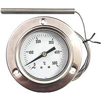 REDPOINT SPARES PIROMETRO termometro 0 500 deg  Inox per FORNI Pizza  BBQ FORNI a Legna  etc