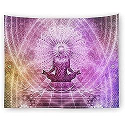 """tapicería Pared Haning Tapiz Hippie Siete Chakra Buda Tapiz Yoga Arte de Pared para el Dormitorio Salón Yoga Estudio Decoración GT43 @ 59""""W * 51"""" H_Style 1"""