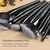 USpicy US-MB03 Makeup Brushes Cosmetics Professional Essential 32-Piece Make Up Brush Set Kits with Travel Pouch(Black) Bild 3