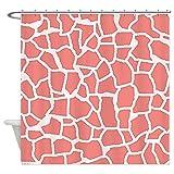 CafePress–diseño de Coral rosa jirafa Animal Print ducha Curtai–decorativo tela cortina de ducha