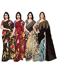 Anand Sarees Faux Georgette Combo Of 4 Saree (Pack_Of_4_1052_2_1052_3_1086_1_1108_2_Multicolor_Free Size)