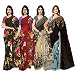 Anand Sarees Synthetic Saree with Blouse Piece (Pack of 4) (PACK_OF_4_1052_2_1052_3_1086_1_1108_2_multicoloured_Free size)
