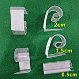 Ocamo 12PCS Plastic Table Skirt Clip with Hook & Loop Elastic Retaining Clamp for Table Cover